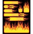 fire symbols vector image