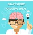 Brain storm creative idea concept vector image