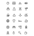 Travel Line Icons 2 vector image