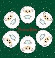 Six sheep vector image