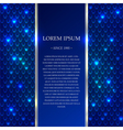 Blue shiny background with sparkles vector image vector image
