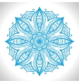 Color circular pattern Round kaleidoscope of vector image