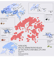 Dot And Flag Map Of Hong Kong Infographic Design vector image