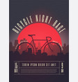 bicycle race contest poster vector image