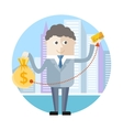 Businessman with credit card vector image