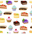 cakes and sweet bakery pattern vector image