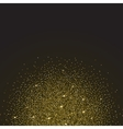 Gold glitter and bright sand dark background vector image