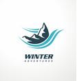 mountain logo design idea vector image