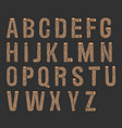 painted wood font vector image
