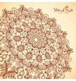 perspective mehndi mandala in henna tattoo vector image