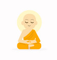sitting buddha with meditation pose vector image
