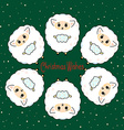 Six sheep vector image