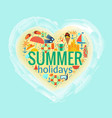 summer holidays heart poster vector image