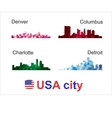 USA City silhouettes vector image