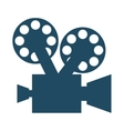 film movie camera icon vector image