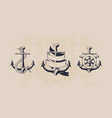anchor collection vector image