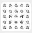 Globe earth icons set vector image vector image