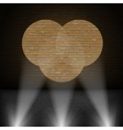 Lanterns Beam on Brick Wall vector image vector image