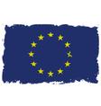 Threadbare flag of European Union vector image