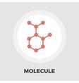 Molecule icon flat vector image