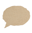 Blank empty white speech bubbles paper collection vector image