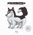 Chinese Zodiac Sign Dog vector image