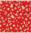 christmas seamless pattern xmas backdrop vector image