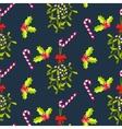 Festive kissing bough seamless pattern vector image