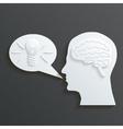 Paper Headmind Brain in Head Silhouette Generate vector image