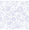 Purple textile flowers texture seamless pattern vector image