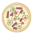 traditional italian pizza vector image