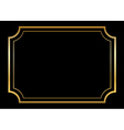 Gold frame Beautiful simple golden black vector image