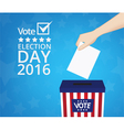 Voting concept hand putting paper vector image