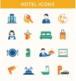Hotel travel flat icons set vector image