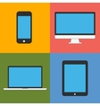 laptop tablet computer monitor and smartphone flat vector image