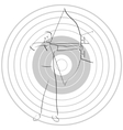 Archer and target vector image vector image