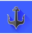 Sea Metal Anchor Silhouette vector image