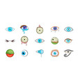 eyes icon set cartoon style vector image