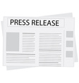 New press release vector image