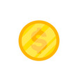 one golden coin isolated icon vector image