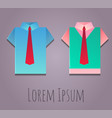 paper origami office shirt vector image
