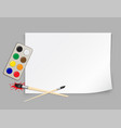 paper template and brush vector image