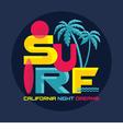 Surf - California - logo badge vector image