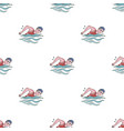 swimmer in cap and goggles swimming in the pool vector image