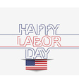 text for labor day vector image