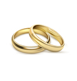 Wediding Rings Bridal Set Realistic Image vector image