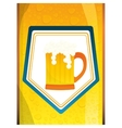 glass beer icon image design vector image