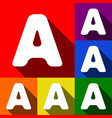 letter a sign design template element  set vector image