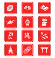 Japanese culture icons vector image