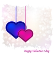 Valentines day card on background vector image